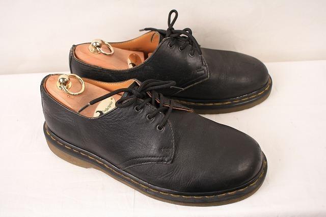 ドクターマーチン UK7/25.5cm-26.0cm/3ホール 黒 ブラック ブーツ レザー メンズ レディース dr.martens 中古 古着 dm3209_画像6