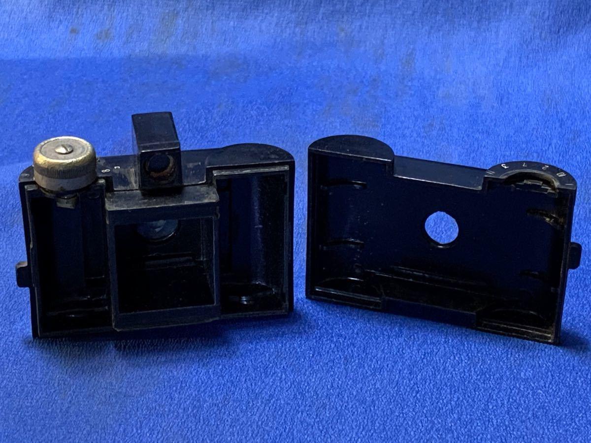 アンティーク 豆カメラ『 Bolex 』Reg.Trade mark NO.10.654 I.J.P.B.ミゼット判フィルムミニカメラ 共革製ケース付き_画像6