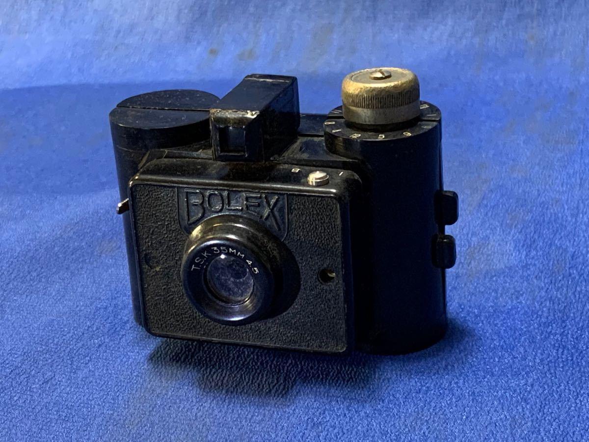 アンティーク 豆カメラ『 Bolex 』Reg.Trade mark NO.10.654 I.J.P.B.ミゼット判フィルムミニカメラ 共革製ケース付き_画像3