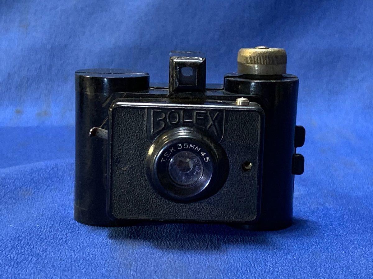 アンティーク 豆カメラ『 Bolex 』Reg.Trade mark NO.10.654 I.J.P.B.ミゼット判フィルムミニカメラ 共革製ケース付き_画像10