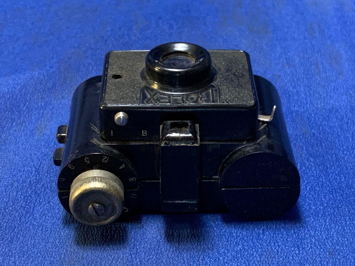 アンティーク 豆カメラ『 Bolex 』Reg.Trade mark NO.10.654 I.J.P.B.ミゼット判フィルムミニカメラ 共革製ケース付き_画像4
