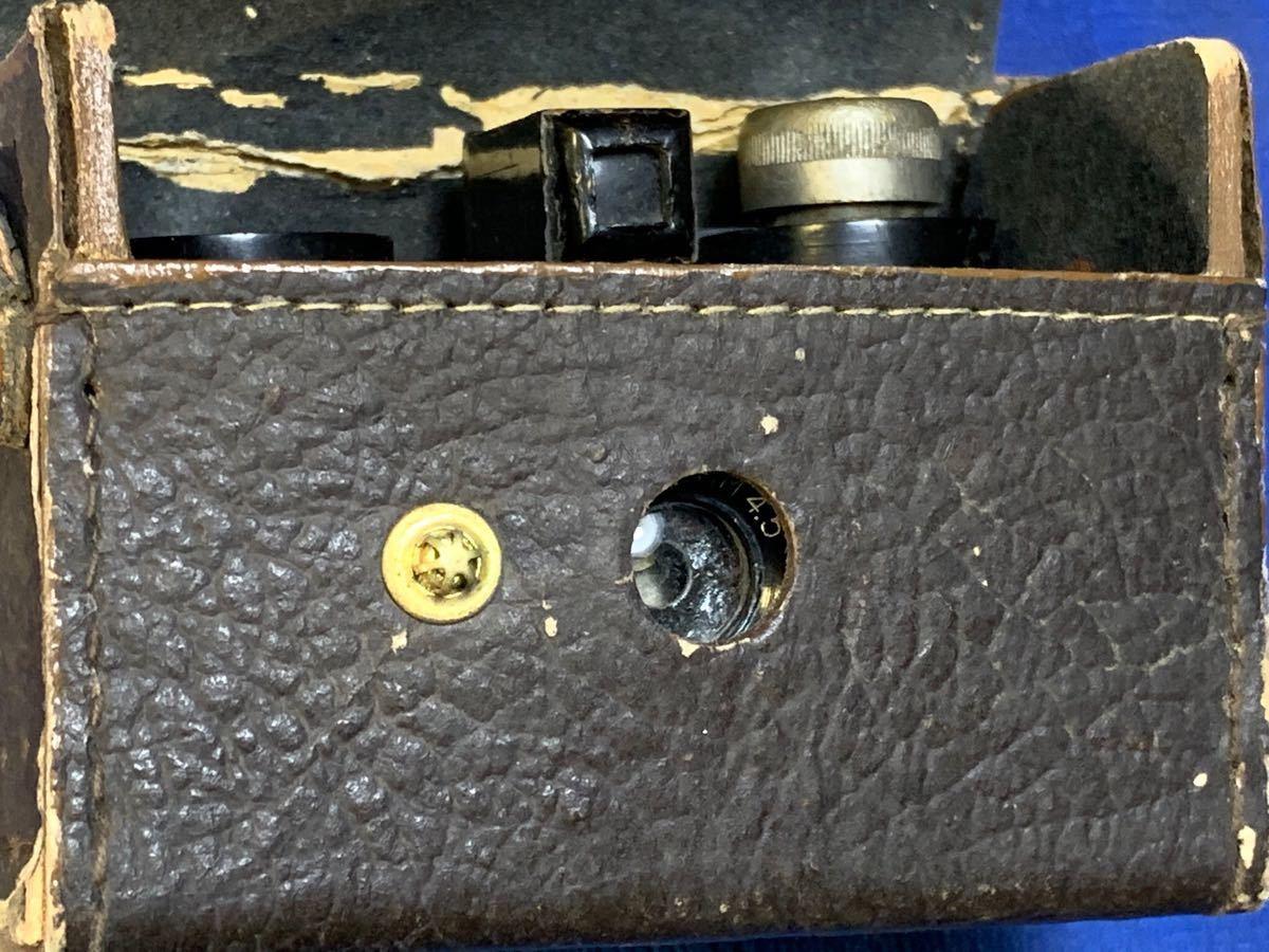 アンティーク 豆カメラ『 Bolex 』Reg.Trade mark NO.10.654 I.J.P.B.ミゼット判フィルムミニカメラ 共革製ケース付き_画像9