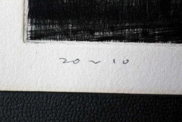 清水敦 銅版画 『黒沢牧場』 1966年作_画像7