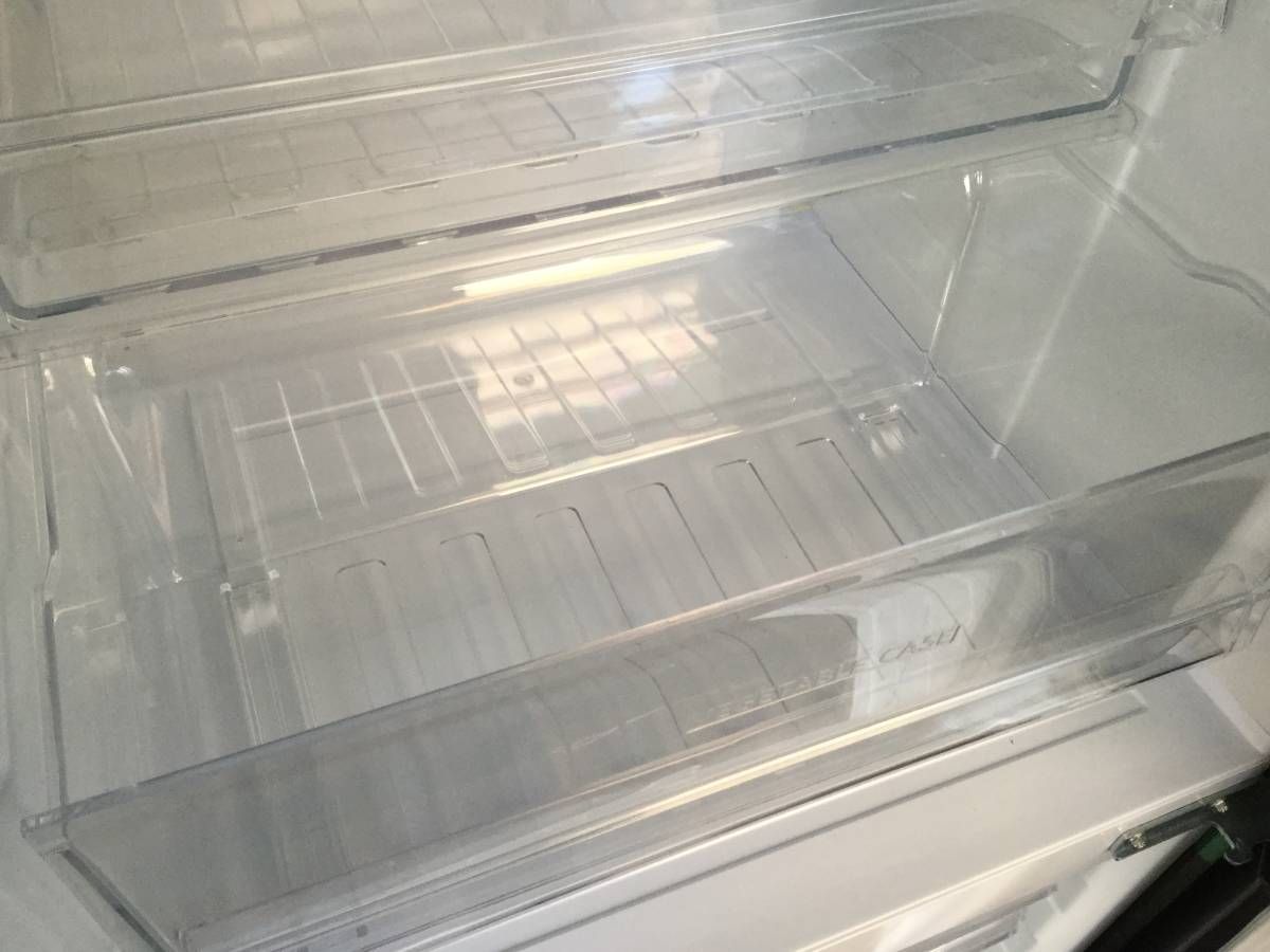 『宮城 仙台 近郊 配達可』SHARP/シャープ 冷凍冷蔵庫プラズマクラスター搭載SJ-PD27Y-T ブラウン2014年製 270L 2ドアzt044ジ「1208-06」★_画像6
