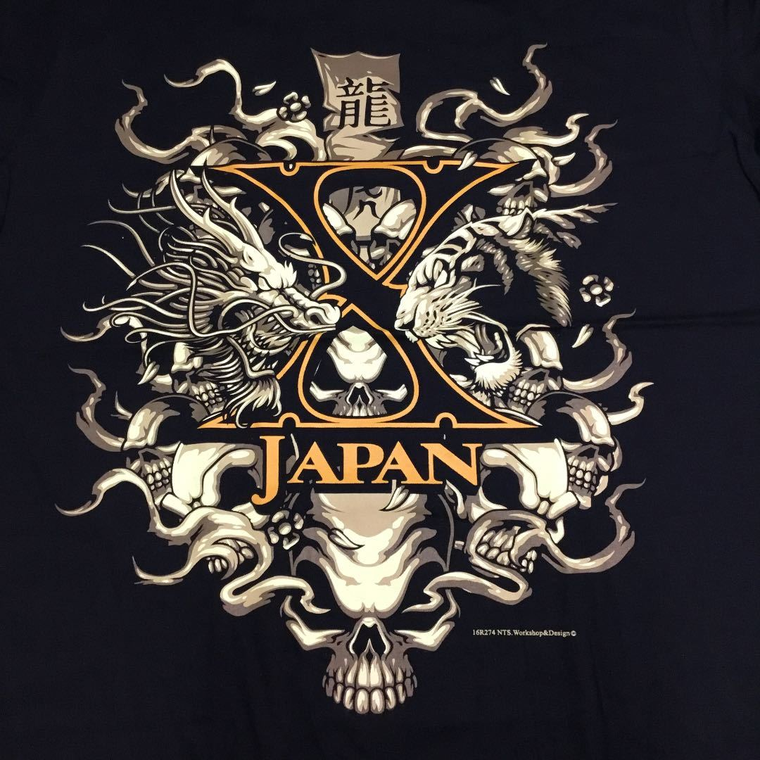 バンドデザインプリントTシャツ XLサイズ(2L)(LL) Xジャパン X JAPAN SR5C1