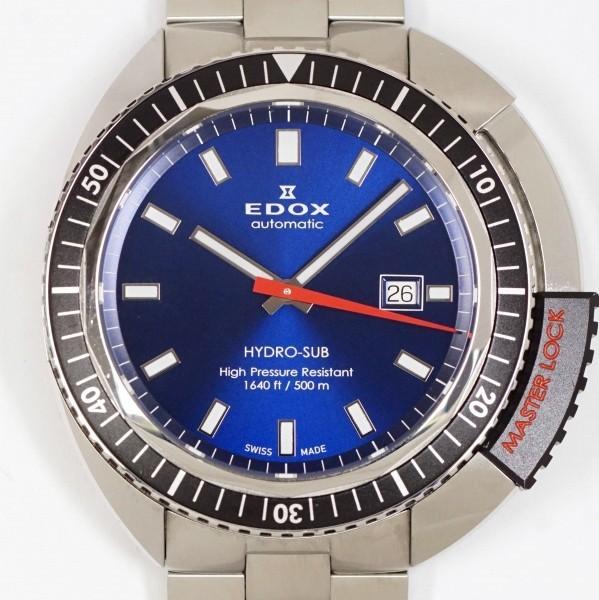 EDOX エドックス ハイドロサブ 80301 ブルー メンズ 自動巻 中古美品_画像1
