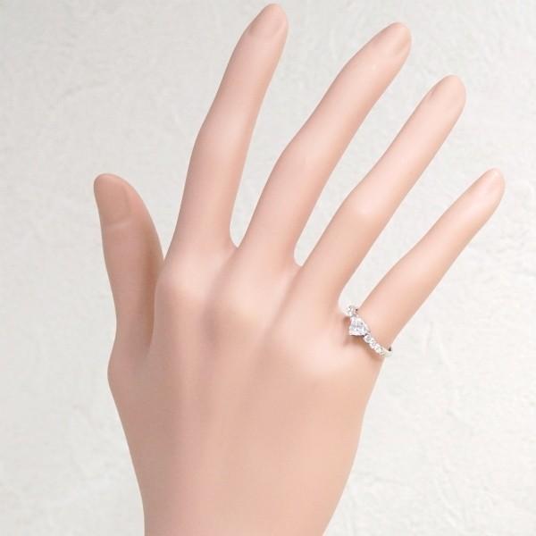 ハートシェイプカットダイヤモンド0.558ct Eカラー SI2 / ダイヤ0.23ct Pt900 リング_画像5