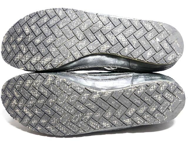 即決★whoop'EE'★27cm レザーハイカットスニーカー フーピー メンズ 緑 グリーン 本革 ダメージ加工 本皮 レースアップ 革靴 シューズ _画像5