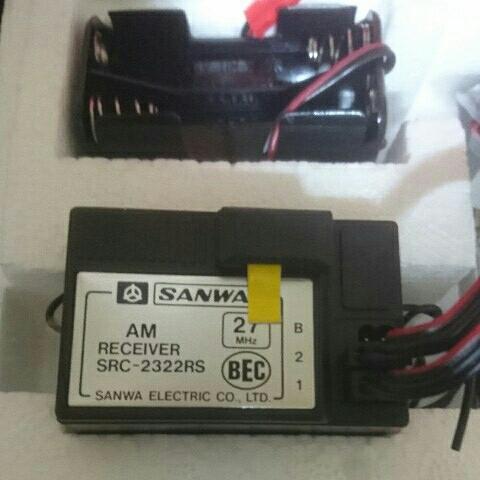 【未使用・新品】サンワ SANWA プロポ ダッシュSP 受信機SRC-2322RS サーボSM-635 箱・説明書に傷みあり 廃盤 希少_画像3