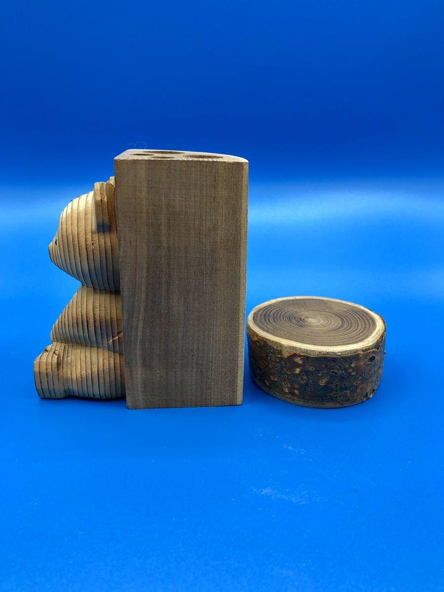 木彫りの熊 熊ボッコ ペン立て 熊の置物 アイヌ_画像4