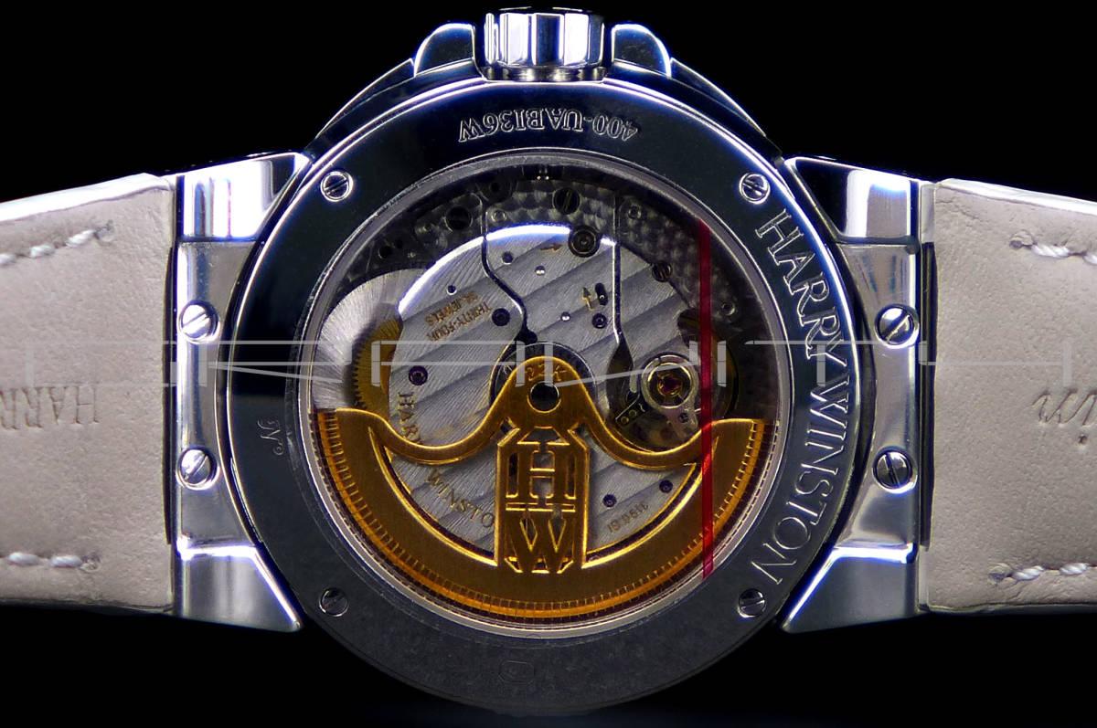 純正 Harry Winston ハリーウィンストン オーシャンレディ バイレトロ 36mm 18KWG 400/UABI36WL_画像4
