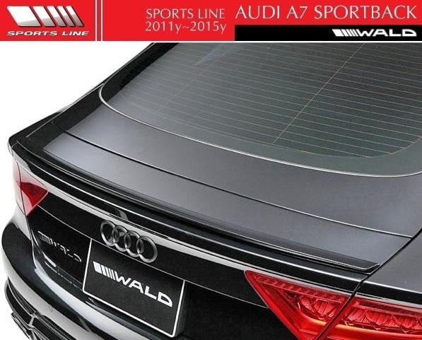 【M's】AUDI A7 SportBack 4GC(2011y-2015y)WALD SPORTS LINE トランクスポイラー//FRP製 アウディ ヴァルド スポーツライン エアロ_画像1