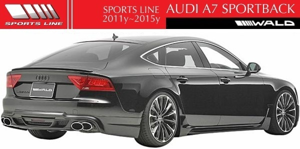 【M's】アウディ A7 SportBack 4GC(2011y-2015y)WALD SPORTS LINE ハーフタイプ リアスカート(LEDランプ+ネット付)/FRP製 ヴァルド_画像2