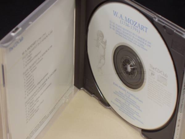 a-135●CD-クラシック●ピエール・ランパル/モーツァルト:フルート四重奏曲&ディヴェルティメント第17番 The CD Club _画像2
