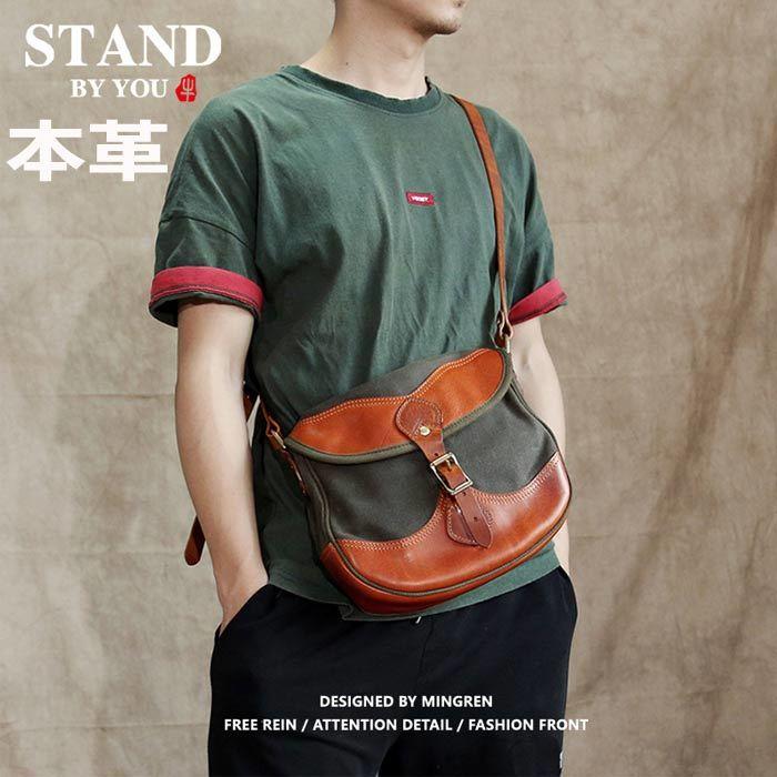 本革ショルダーバッグ メンズ 斜め掛けバッグハンドバッグレザー 斜め掛け 仕事鞄 大容量 軽量多収納多機能大きい A4通勤通学バッグcy099_画像1