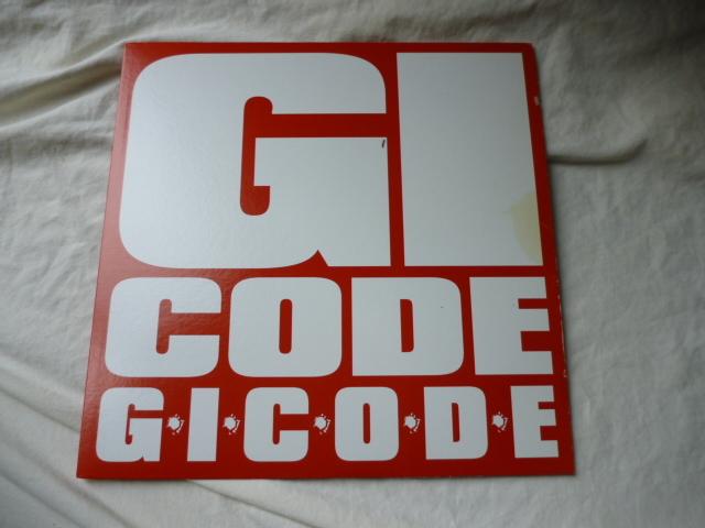 GICODE / G.I.C.O.D.E / ONE レア!プロモ盤12 業界にだけ配布された日本語ラップ アンダーグラウンド名曲 試聴_画像1