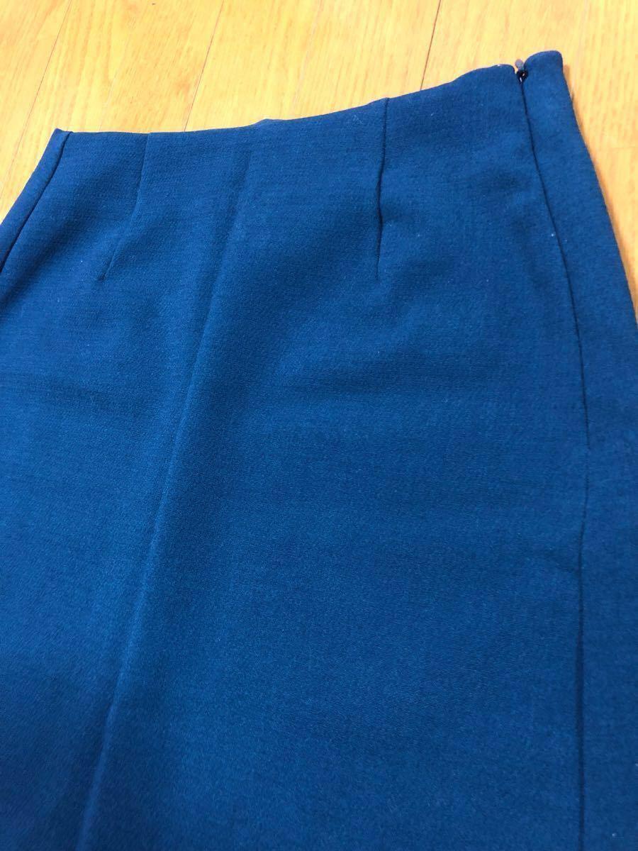 タイトミニ スカート 【S】ストレッチ性あり 青緑 gu