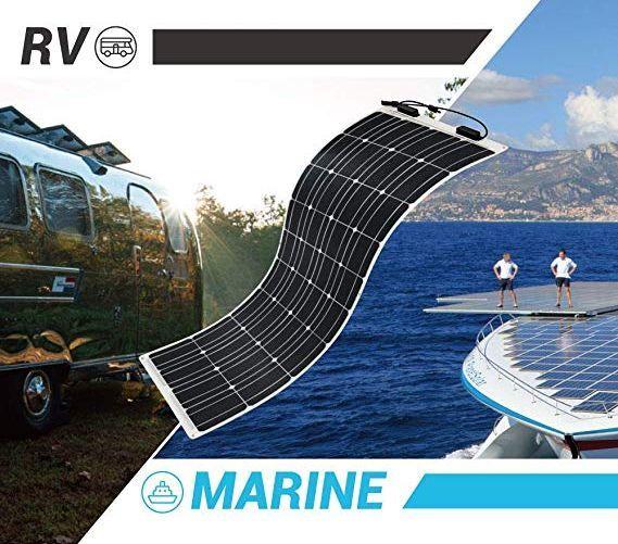 高効率な単結晶200Wソーラーパネル!フレキシブルタイプ!太陽光発電 エコ 節約 12V蓄電に!薄型軽量で曲面設置が可能!本州法人送料無料!_画像10