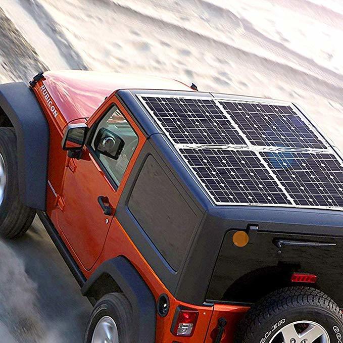 高効率な単結晶200Wソーラーパネル!フレキシブルタイプ!太陽光発電 エコ 節約 12V蓄電に!薄型軽量で曲面設置が可能!本州法人送料無料!_画像8