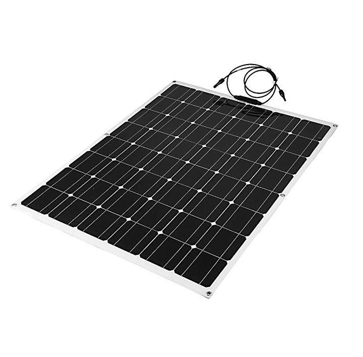 高効率な単結晶200Wソーラーパネル!フレキシブルタイプ!太陽光発電 エコ 節約 12V蓄電に!薄型軽量で曲面設置が可能!本州法人送料無料!_画像2