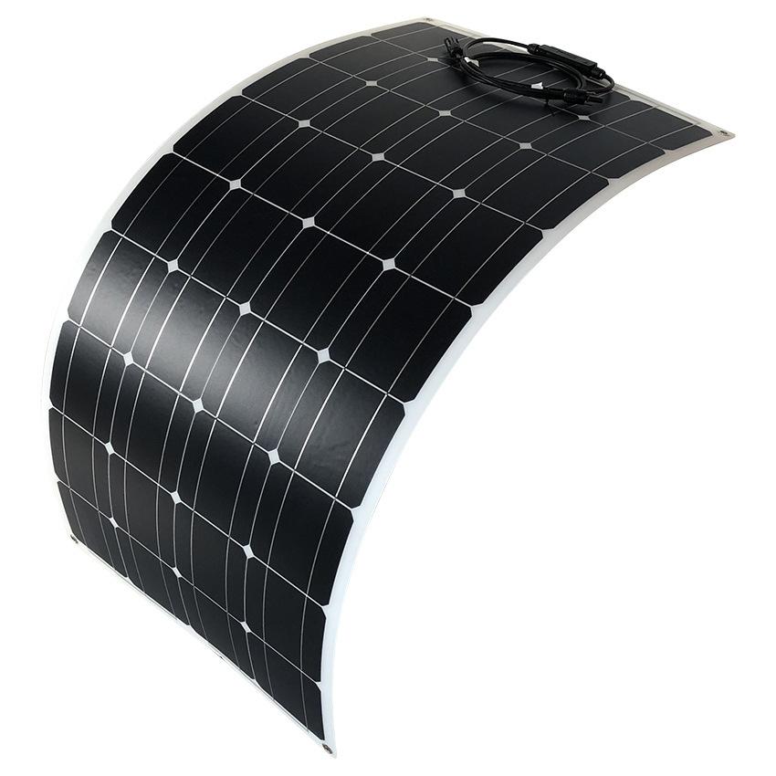 高効率な単結晶200Wソーラーパネル!フレキシブルタイプ!太陽光発電 エコ 節約 12V蓄電に!薄型軽量で曲面設置が可能!本州法人送料無料!_画像5
