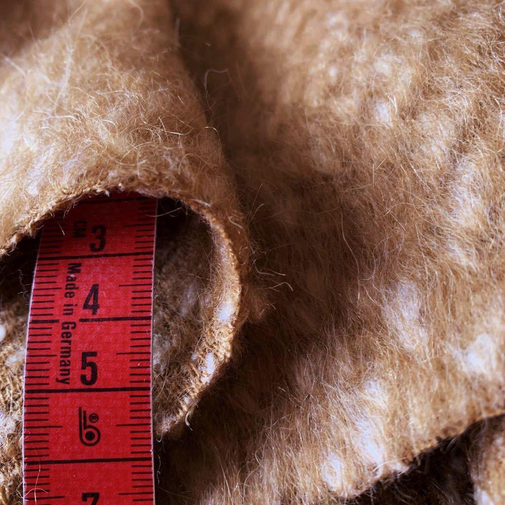 イタリア製 コート 150×180 ウール51 モヘア16 アルパカ6 上質服地 シャギー_画像3