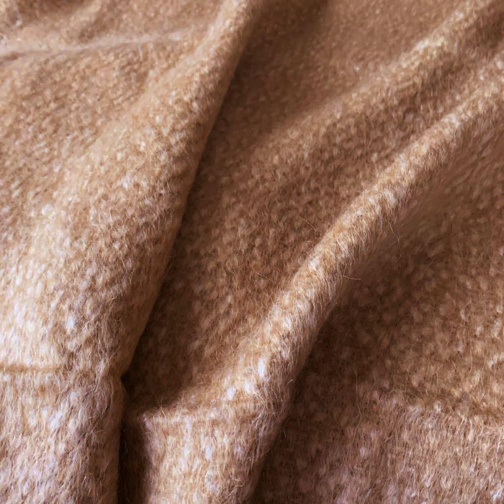 イタリア製 コート 150×180 ウール51 モヘア16 アルパカ6 上質服地 シャギー_画像5