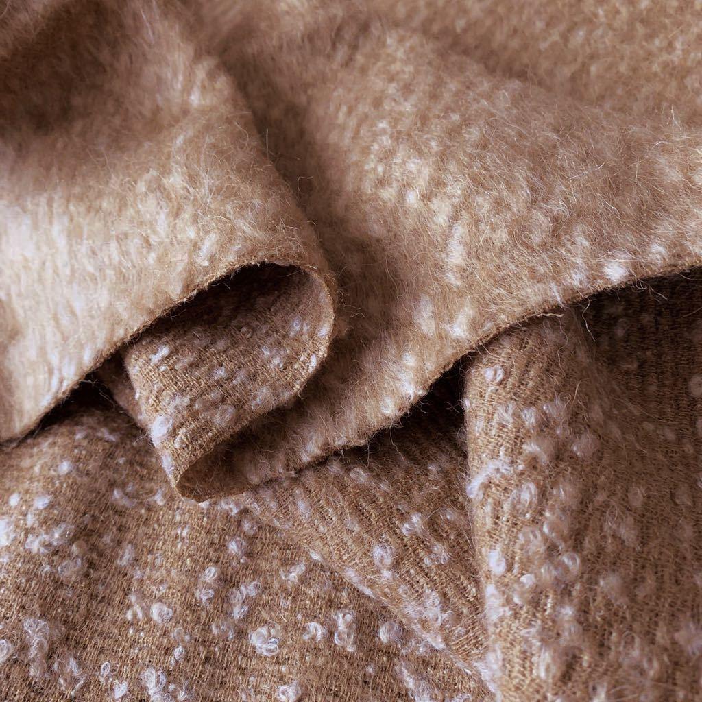イタリア製 コート 150×180 ウール51 モヘア16 アルパカ6 上質服地 シャギー_画像4