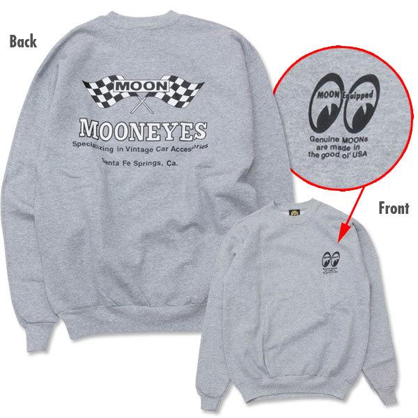 MOON Checker Flag スウェット シャツ MOONEYES ムーンアイズ XLサイズ [SM003SG]_画像1