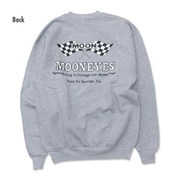 MOON Checker Flag スウェット シャツ MOONEYES ムーンアイズ XLサイズ [SM003SG]_画像3