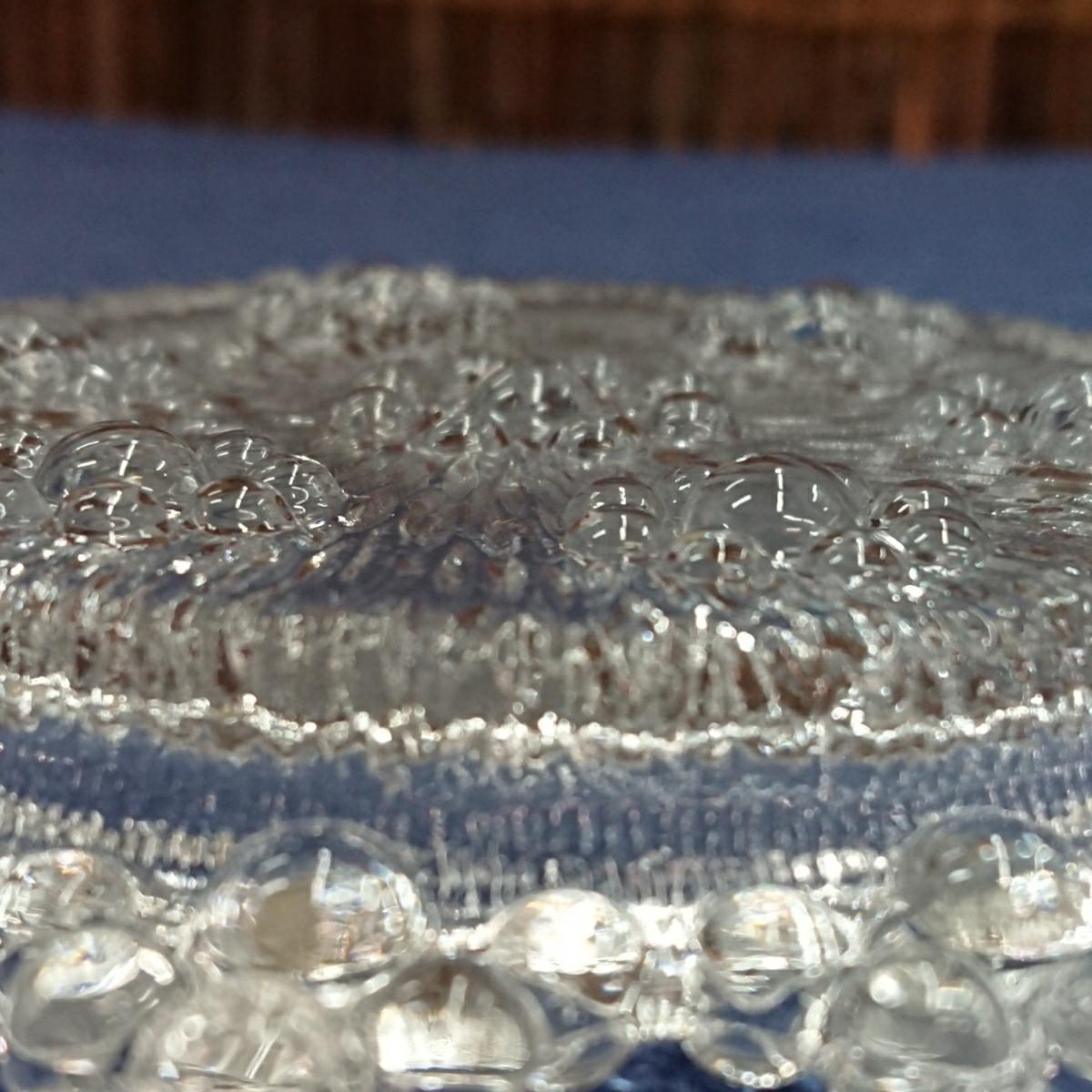 【未使用・デッドストック】アデリア ガラス ピコット ミニプレート まとめて20枚 (5×4) 昭和レトロ カフェ 業務用(コースター 小皿)_画像8