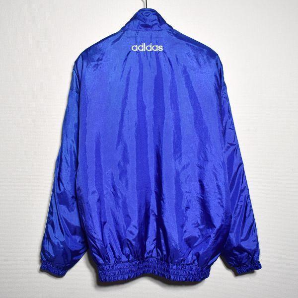 adidas 90sデサント製 ウインドブレーカー 上下 セットアップ トリコロール 横浜マリノス 清水商業_画像3