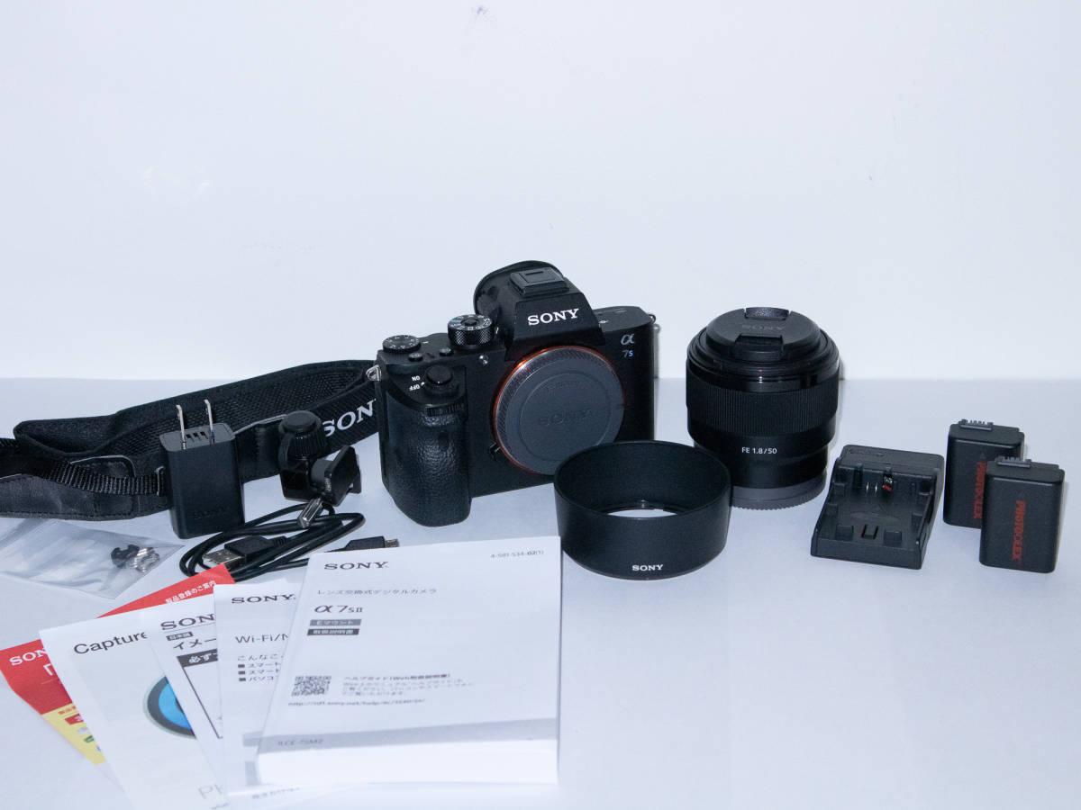 【極上品】SONY α7SII ILCE-7SM2 50mm F1.8 レンズ セット 箱