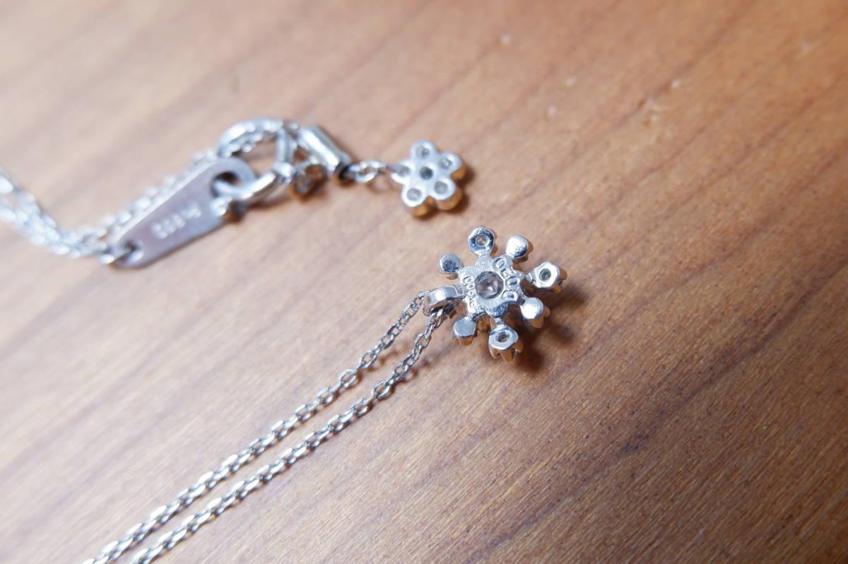 アベリ Pt 雪の結晶 ダイヤモンド 0.20ct ネックレス AbHeri yoshinob ヨシノブ プラチナ ペンダント_画像3
