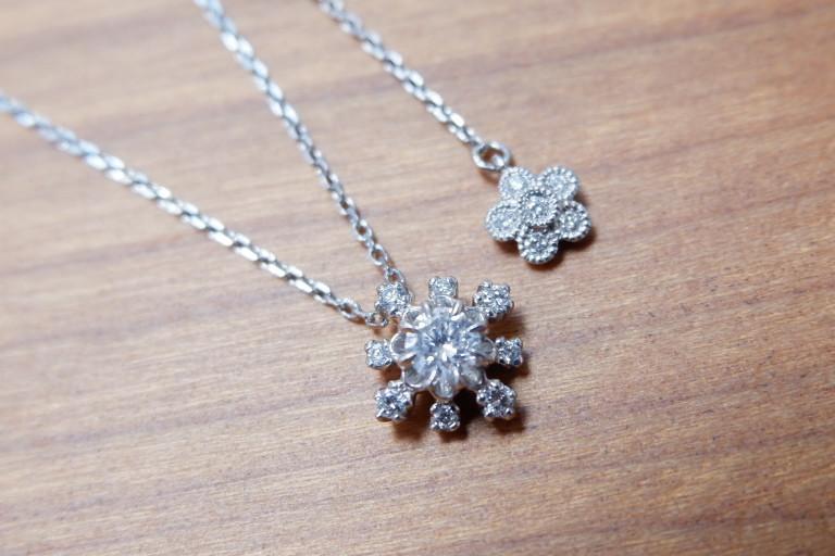 アベリ Pt 雪の結晶 ダイヤモンド 0.20ct ネックレス AbHeri yoshinob ヨシノブ プラチナ ペンダント_画像4