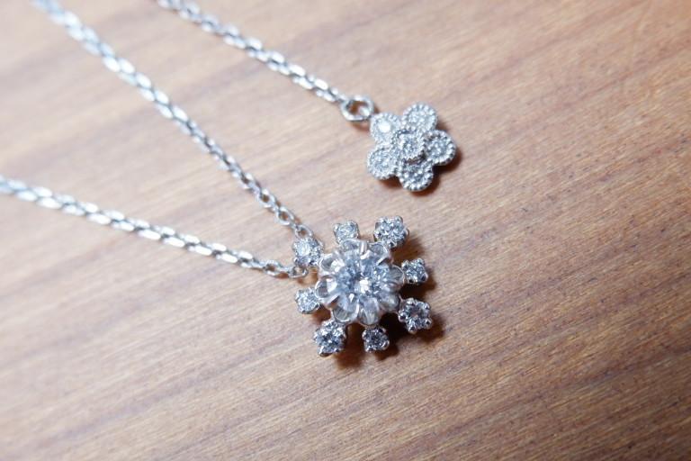 アベリ Pt 雪の結晶 ダイヤモンド 0.20ct ネックレス AbHeri yoshinob ヨシノブ プラチナ ペンダント_画像1