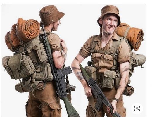 実物 ローデシア 南アフリカ軍 P70装備 後期型コンバットベルト セルーススカウト SAS RECCE 32大隊 傭兵 イラク アフガン PMC_画像7