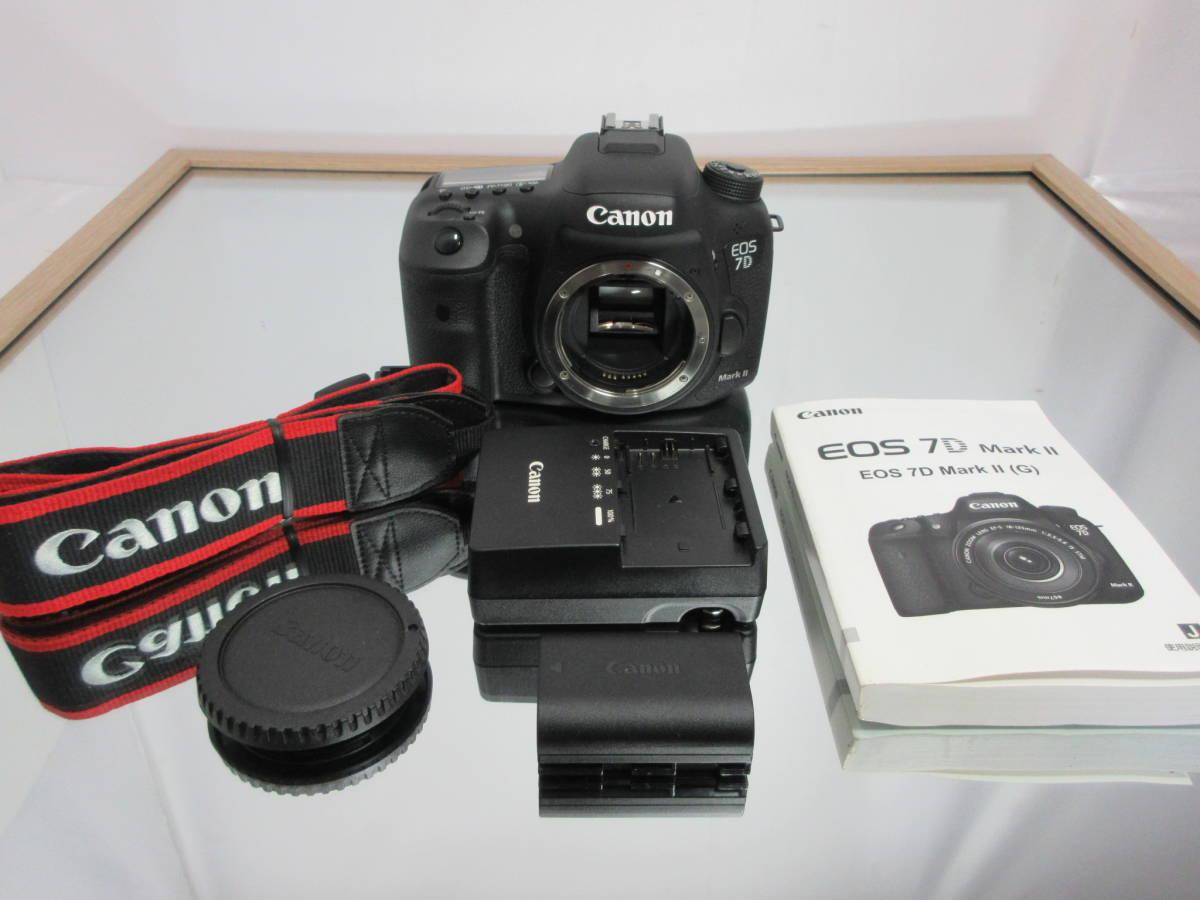 Canon キヤノン EOS 7D Mark II マーク 2 デジタル 一眼レフ カメラ バッテリー 充電器 取説 付き 中古 64