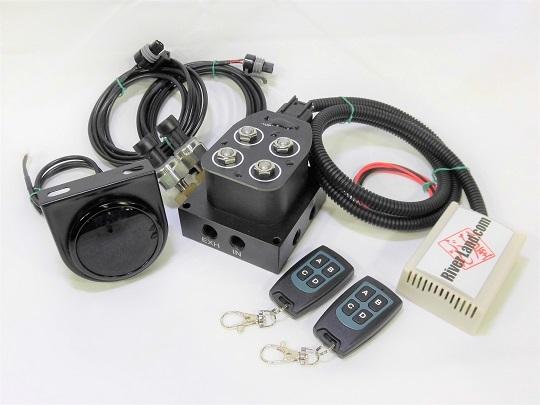 エアーマネージメントKIT Ver.2 エアサス エアーホーン VIAIRなどに エアサスコンプレッサー エアサスタンク エアサス電磁弁 新品_画像3