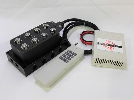 エアサス マニホールドバルブ+ワイヤレスリモコンキット 4独用 エアサス電磁弁 新品_画像1