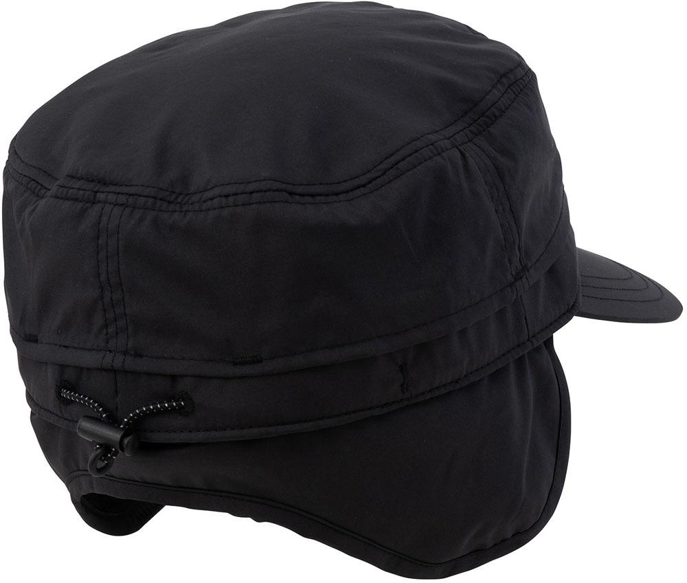 ★Marmot マーモット ワークキャップ 帽子 ブラック 59cm L 耳付き サイズ調整 2WAY トレッキング アウトドア