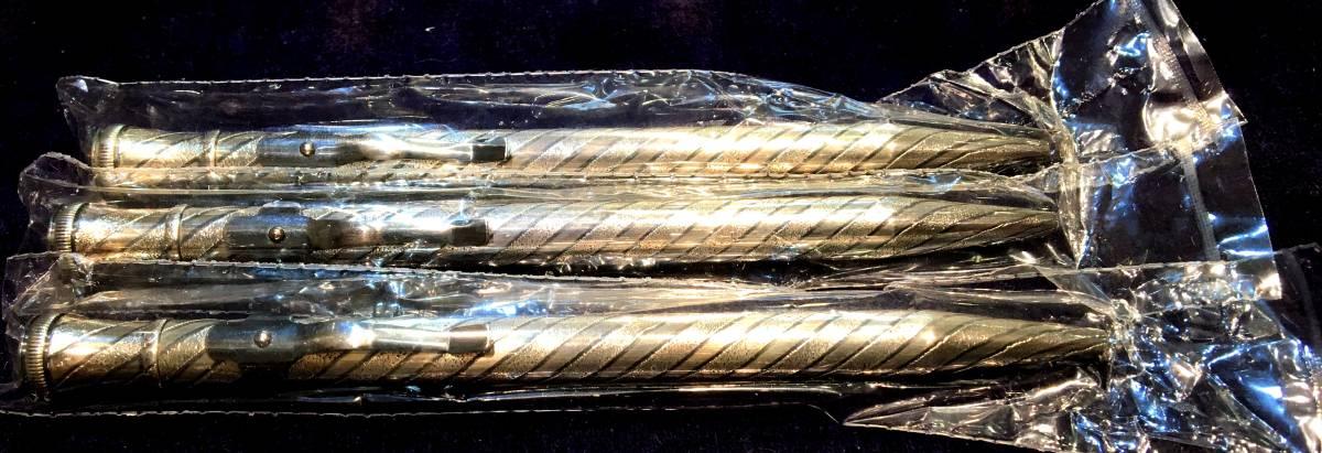プラチナ万年筆 銀製ボールペン 限定複製 早川式繰出鉛筆 刻印無ver, 未開封・未使用3本セット