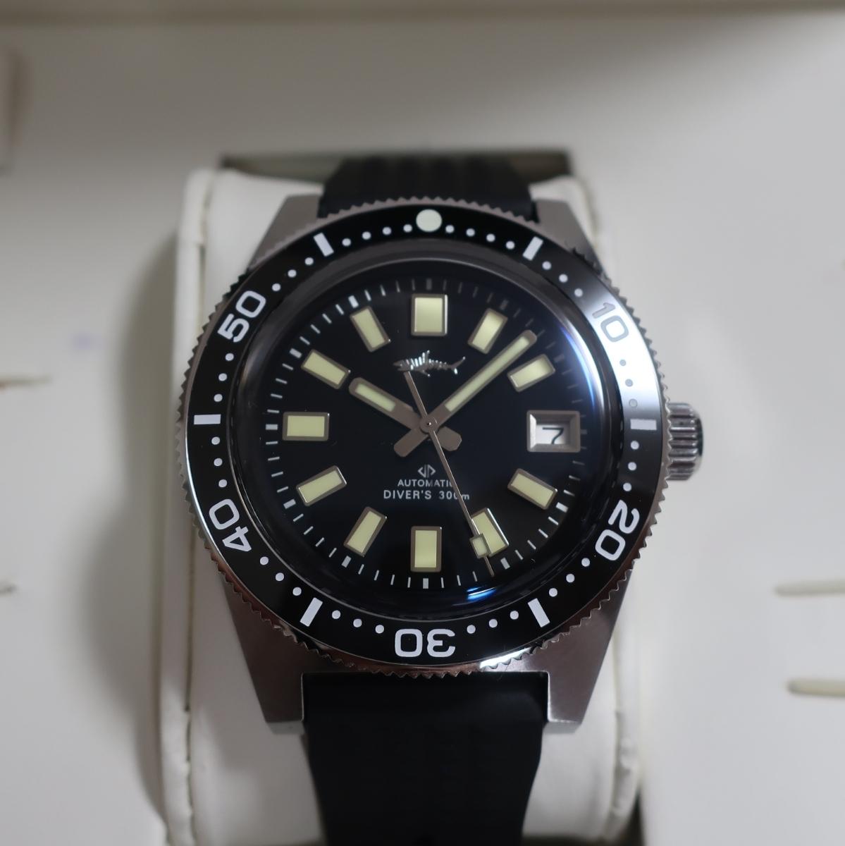 (送料無料)腕時計ダイバーズウォッチHEIMDLLRセイコーファーストダイバー62MASオマージュ自動巻きNH35A