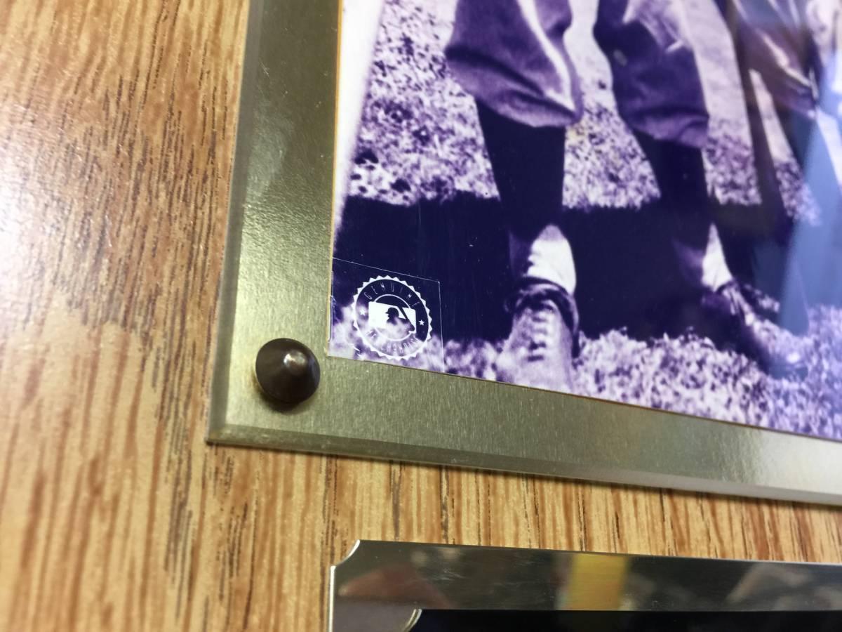ニューヨーク ヤンキース ベーブルース ルー ゲーリック アスレチックス ネリー フォックス 額 殿堂入り 30.5cmx38cm   D2