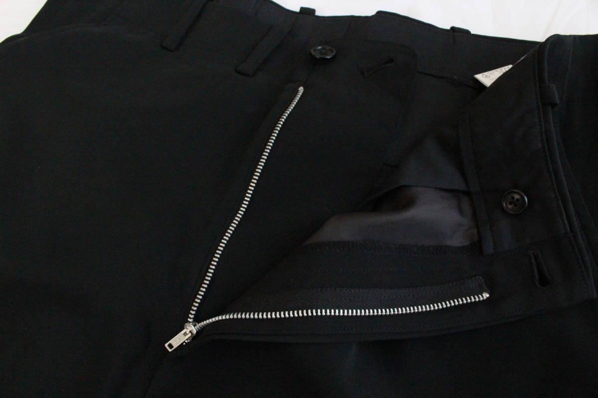【 Yohji Yamamoto POUR HOMME 】 ヨウジヤマモト プールオム ブラック シルクパンツ / 黒 / 2 / 絹_画像5