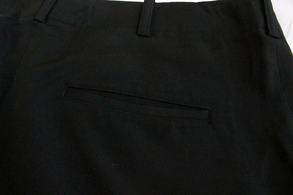【 Yohji Yamamoto POUR HOMME 】 ヨウジヤマモト プールオム ブラック シルクパンツ / 黒 / 2 / 絹_画像7