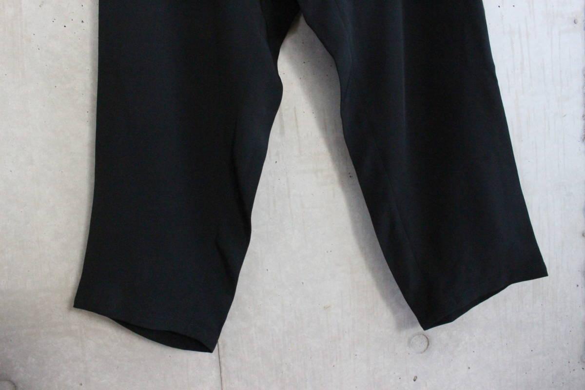 【 Yohji Yamamoto POUR HOMME 】 ヨウジヤマモト プールオム ブラック シルクパンツ / 黒 / 2 / 絹_画像8