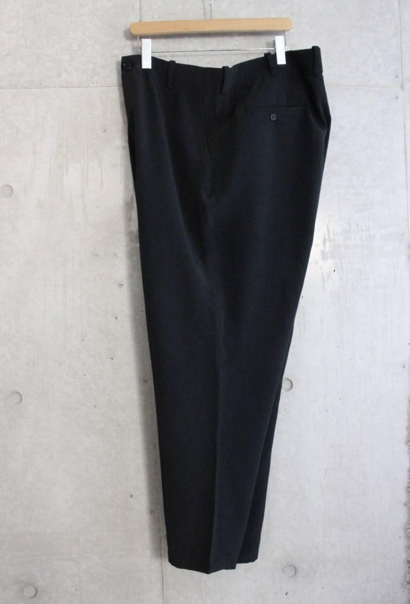 【 Yohji Yamamoto POUR HOMME 】 ヨウジヤマモト プールオム ブラック シルクパンツ / 黒 / 2 / 絹_画像2