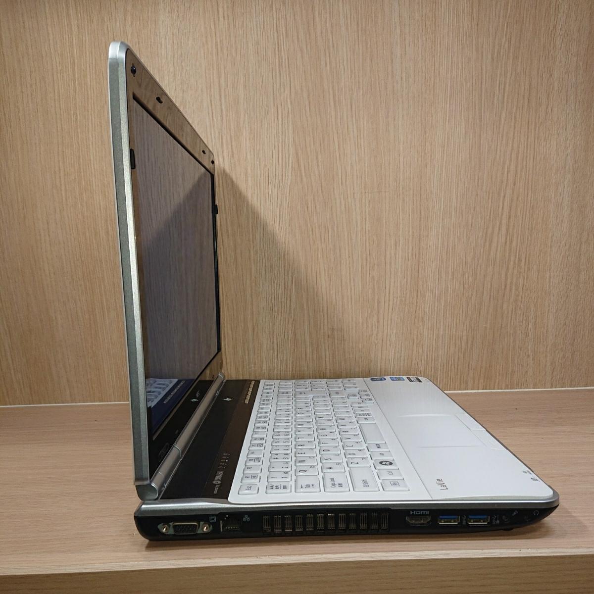 【B26】即決特典 爆速SSD240GB NEC LaVie LL750 ホワイト YAMAHAsound ノートパソコン core i7-2670QM メモリ8GB Windows10 Office2019 _画像6