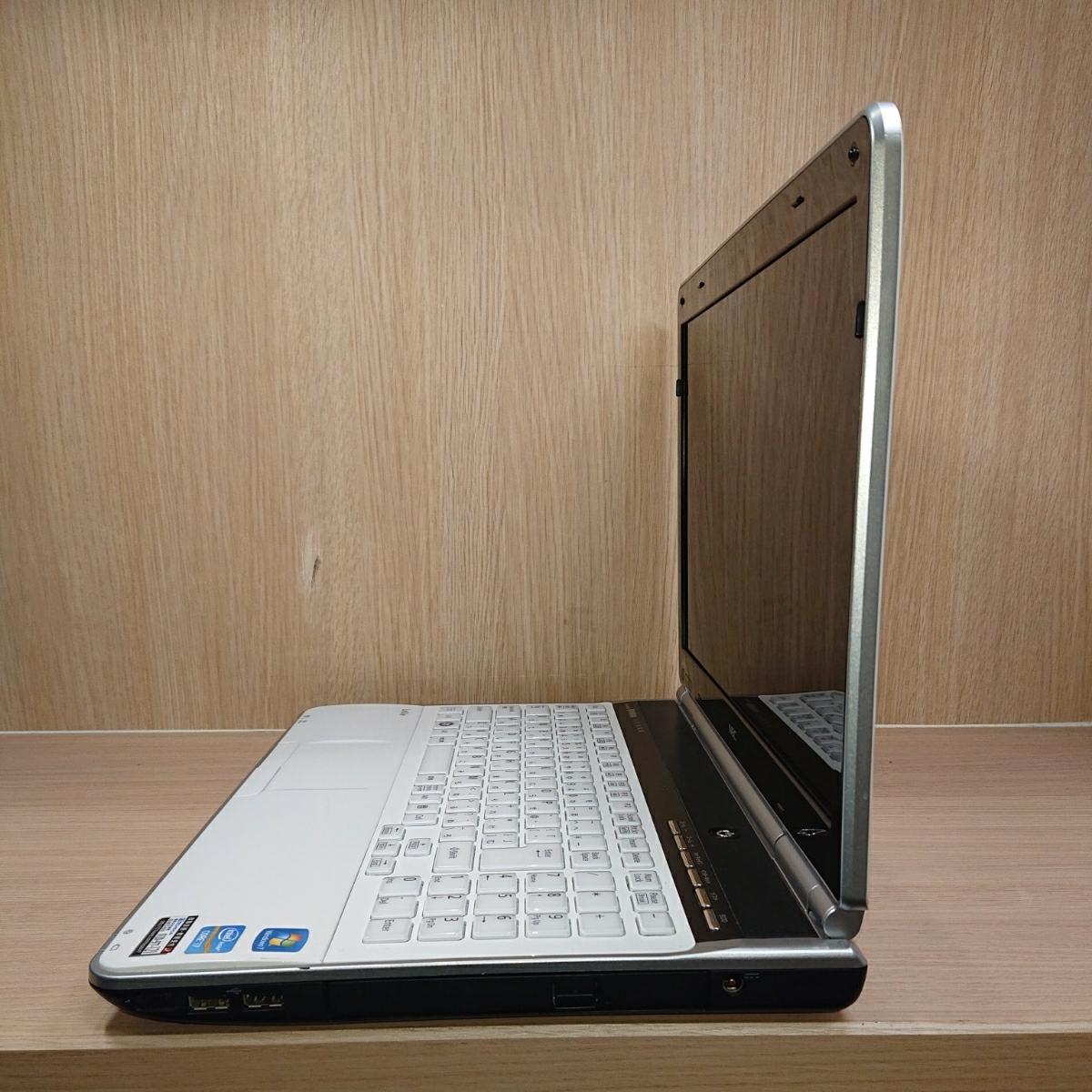 【B26】即決特典 爆速SSD240GB NEC LaVie LL750 ホワイト YAMAHAsound ノートパソコン core i7-2670QM メモリ8GB Windows10 Office2019 _画像5
